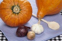 Cooking hokkaido pumpkins Stock Photos
