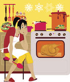 Cooking for holidays Stock Photos