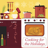 Cooking for the holidays Stock Images