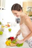 Cooking at home Royalty Free Stock Photos