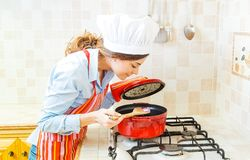 Cooking home Stock Images
