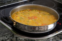 Cooking at home. Casserole with delicious homemade Stock Images
