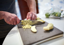 Cooking at home Royalty Free Stock Images