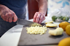 Cooking at home Royalty Free Stock Image