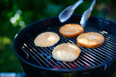 Cooking of homemade burger Stock Photography