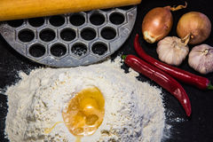 Cooking homemade dumplings Royalty Free Stock Images