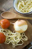 Cooking homemade pasta Royalty Free Stock Photography