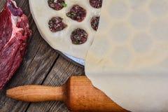Cooking homemade ravioli Stock Photos