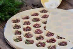 Cooking homemade ravioli Stock Photo