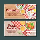 Cooking horizontal banner Stock Photo