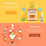 Cooking Horizontal Banners Stock Photos