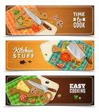 Cooking Horizontal Banners Royalty Free Stock Photography