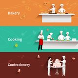 Cooking Horizontal Banners Stock Photography