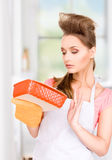 Cooking housewife Royalty Free Stock Photography