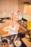 Cooking housewife Stock Image