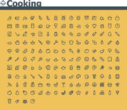 Cooking icon set Royalty Free Stock Photo
