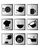 Cooking icon set. Food and cooking icons set Stock Photos