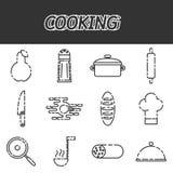 Cooking icon set Stock Photos