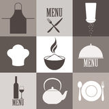 Cooking. Icon Set Stock Images