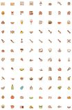 Cooking icon set. Set of the cooking related icon Stock Photos