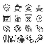 Cooking icon set. Vector illustration Royalty Free Stock Photos