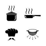 cooking Iconos relacionados simples del vector Foto de archivo