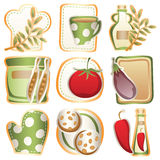 Cooking icons. Original  icons on cooking Royalty Free Stock Images