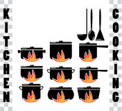 Cooking icons Royalty Free Stock Photo