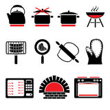 Cooking icons Royalty Free Stock Photography