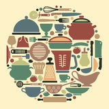 Cooking icons Royalty Free Stock Image