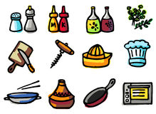 Cooking icons Stock Images