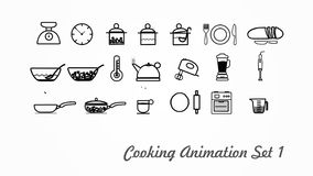 Cooking Icons animation with alpha set 1 v3