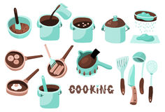Cooking icons B Stock Photo