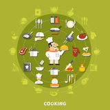 Cooking Icons Circle Collection Stock Image