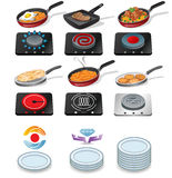 Cooking icons Stock Image