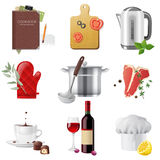 Cooking icons. 9 highly detailed cooking icons set vector illustration