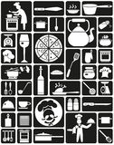 Cooking Icons Royalty Free Stock Images