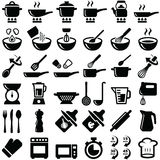 Cooking icons. Cooking and kitchen icon collection -  silhouette Royalty Free Stock Images
