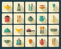 Cooking icons Royalty Free Stock Photos