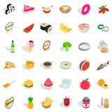 Cooking icons set, isometric style. Cooking icons set. Isometric style of 36 cooking vector icons for web isolated on white background Stock Images