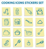 Cooking icons set kitchen Stock Images