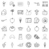 Cooking icons set, outline style. Cooking icons set. Outline style of 36 cooking vector icons for web isolated on white background Royalty Free Stock Photo
