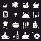 Cooking icons set. Vector illustration Royalty Free Stock Photos