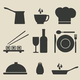 Cooking icons set Stock Photography
