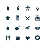 Cooking icons set Royalty Free Stock Image