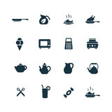 Cooking icons set Stock Photos