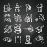 Cooking icons sketch Royalty Free Stock Photo
