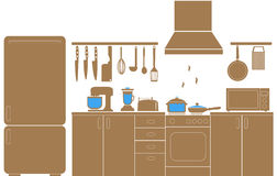 Cooking Icons vector. Cooking Icons and knife and kitchenware Royalty Free Stock Photos