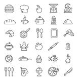 Cooking icons, vector symbols Stock Photo
