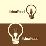 Cooking ideas symbol icon/ logo template Stock Image